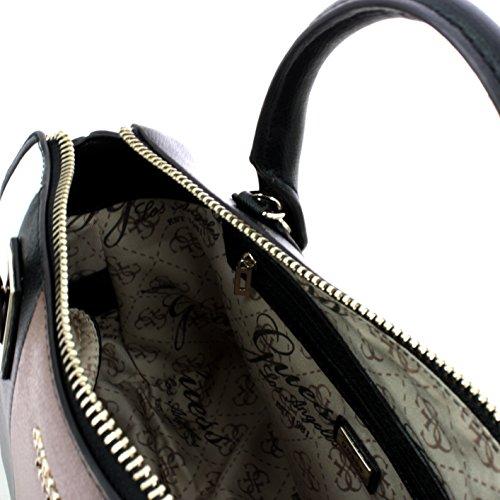 Guess handbag liya satchel mocha multi Noir