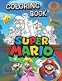Super Mario Coloring Book: Super Mario Jumbo Coloring Book With 40 Premium Images For Kids Ages 4-8