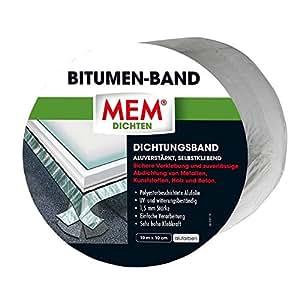 Mem 500481 bitumen band 10m x 100 mm alu baumarkt for Bricoman sestu