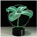 Bloom Flowers Vier Blatt 3D Optische Täuschung Tischleuchte Touch Fernbedienung 7 Farben Home Light Party Neuheit Kid Geschenke