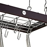 Hahn Metro Wood Ceiling Rack, Espresso