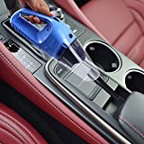 Nueva Aspirador del Coche Puede Usar en Seco Húmedo y Súper Succión 5 Metros de Alambre 12V, 120W .Incluye Accesorios. Color Azul.