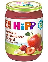 HiPP Früchte Erdbeere mit Himbeere in Apfel, 190 g