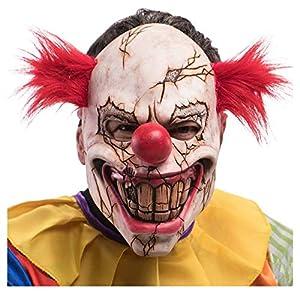 Carnival Toys máscara de Payaso Horror crepato de látex C/EL Pelo con Estribo 477,, 8004761013592