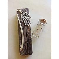 segnalibro mano di hamsa o fatima argento idea regalo bomboniera amante dei libri