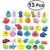 TOYMYTOY 13pcs bebé niños baño tiempo diversión mar animales bañera juguetes flotantes juguetes de baño suave