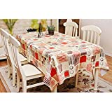 PQPQPQ Tischdecke dicken PVC verfügbaren wasserdicht Tischdecken, Tischdecken, Anti-Öl, Couchtisch, Gewebe Tischdecken Pastorale Kunststoff, 1 137 * 182 cm
