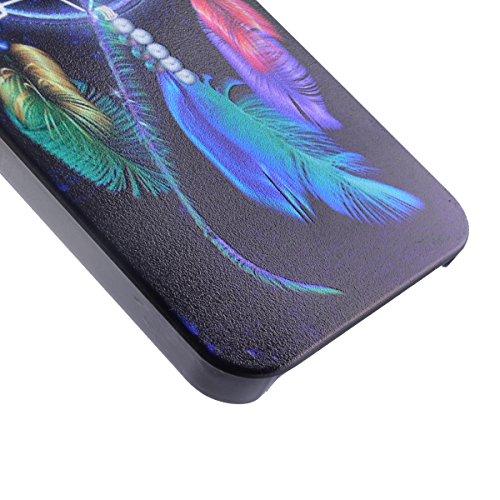 Voguecase® für Apple iPhone 5 5G 5S , (Harte Rückseite) Hybrid Hülle Schutzhülle Case Cover (Princesse) + Gratis Universal Eingabestift Campanula Feder