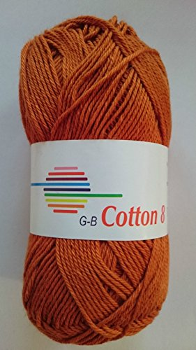 G-B Wolle Cotton 8 100 % Baumwolle, Farbe:1540 rost