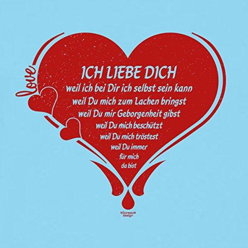 Soreso Design Romantisches Kissen Ich Liebe Dich + Schmuck Fimo Armband Geschenk Weihnachten Frauen Farbe: hellblau