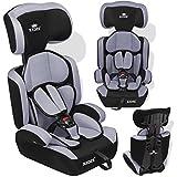 Kidiz® Autokindersitz Kinderautositz ✓ Gruppe 1+2+3 ✓ 9-36 kg ✓ Autositz ✓ Kindersitz   Stabil und Sicher   Farbe: Grau