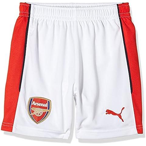 Puma - Pantaloncini da calcio per bambini, replica della prima maglia dell'Arsenal Football Club della stagione 2016-2017, Bambino, AFC Home F6, bianco, 11 - 12 anni