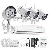 Funlux CCTV 4 Kanal HDMI NVR sPoE 720P Überwachungssystem mit 4 Sicherheitskamera Outdoor Überwachungsset für Aussen/Innen, Weiß Test