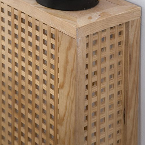 Nordic Heizkörperverkleidung 92,5Cm – Holz – 92x18x78 cm – Farbe Natur - 2