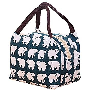 Lalang Thermal Insulated Lunch Bag Women Box Tote Cooler Bear