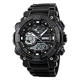 ZNSB montres sport sport montres numériques double montre montres chronographe alarme 50m montre étanche relogio masculino 1228 , white