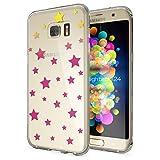 NALIA Handyhülle für Samsung Galaxy S7 Edge, Slim Silikon Motiv Case Hülle Cover Crystal Schutzhülle Dünn Durchsichtig, Etui Handy-Tasche Backcover Transparent Bumper, Designs:Stars