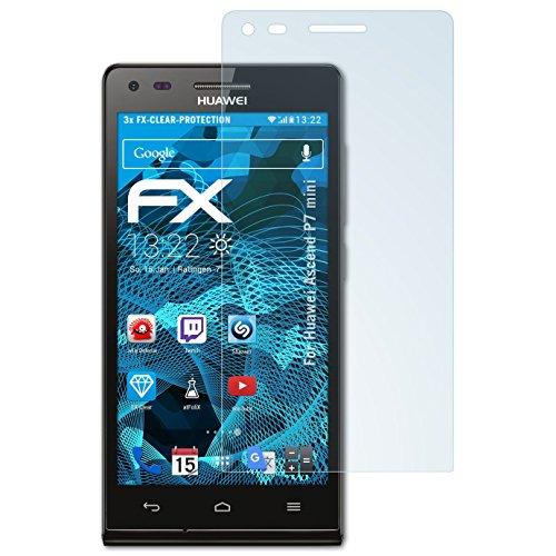 atFolix Schutzfolie kompatibel mit Huawei Ascend P7 Mini Folie, ultraklare FX Bildschirmschutzfolie (3X)