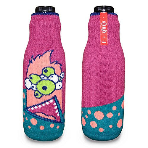 KIT-RAY Lustiges Monster Mr.PINK/Mr.RED/Mr.ORANGE/Mr.Happy/Mr.SAD Flaschenabdeckung Flasche Koozie Bottle by CUP OF SOX (Rosa)
