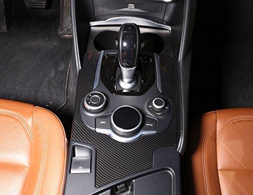 Carbon ABS chroem Dekoration Center Console Gear Shift Panel Rahmen Aufkleber Cover Trim Zubehör für Giulia 2017