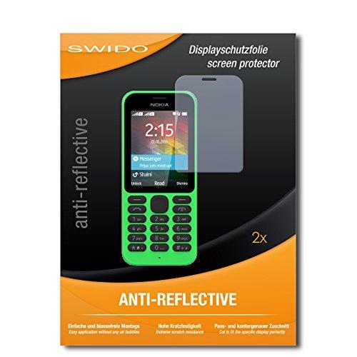 SWIDO Schutzfolie für Microsoft Nokia 215 Dual SIM [2 Stück] Anti-Reflex MATT Entspiegelnd, Hoher Härtegrad, Schutz vor Kratzer/Bildschirmschutz, Bildschirmschutzfolie, Panzerglas-Folie