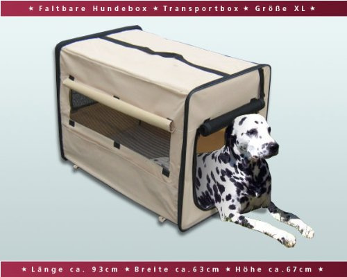 Faltbare Hundebox / Auto Transportbox / Transporthütte / Hundehütte XL Beige