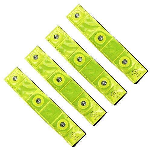 COM-FOUR 4x Sicherheits-Reflektorbänder mit LED