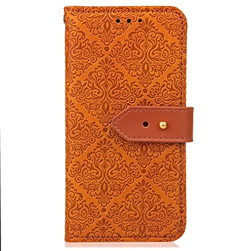 YHUISEN Galaxy S5 Case, Magnetverschluss European Style Wandgemälde Prägeartig PU Leder Flip Wallet Case Mit Stand Und Card Slot Für Samsung Galaxy S5 i9600 ( Color : Black ) Khaki