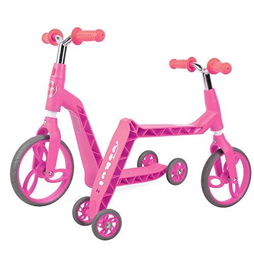 Vokul Gh05 Bicicleta sin Pedales Patinetes para niños (Rosado)