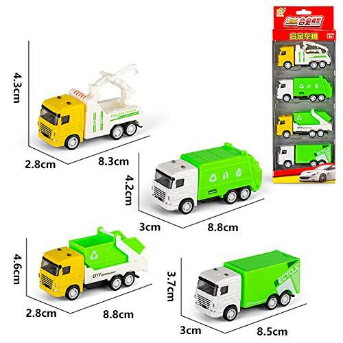 ACHICOO 4 Teile/Satz Kinder Spielzeug Legierung Ziehen Auto Modellierung Simulation Auto Tank Sport Auto Flugzeug Legierungs-Hygieneset B