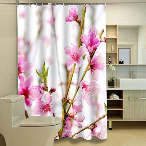 Duschvorhang Pfirsich Digitaldruck 3D-Polyester Duschvorhang Abgeschnitten Foto Duschvorhang (Größe: 180*180 cm).