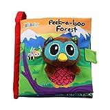 YeahiBaby Stoffbuch Baby Eule Tiere Weiches Bilderbuch Pädagogische Spielbuch Stoffspielzeug