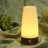 Nestling® LED Bewegungsmelder Tischleuchte Nachtlicht LED-Tischlampe mit kabellosem PIR-Bewegungssensor (Rund)