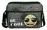 Undercover Schultertasche, Emoji, Circa 25 x 33 x 9 Umhängetasche, 37 cm, Grau