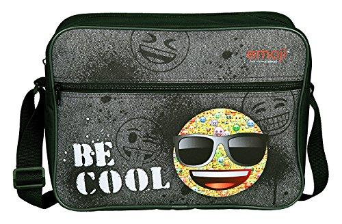 emoji tasche Undercover Schultertasche, Emoji, Circa 25 x 33 x 9 Umhängetasche, 37 cm, Grau