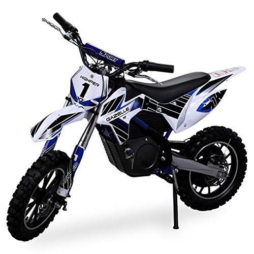 Gazelle ELEKTRO - Mini motocicleta de cross, 500 W, incluye horquilla reforzada, color azul