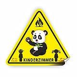 Aufkleber Kinderzimmer zur Sicherheit im einem Brandfall! Warnzeichen Reflektierender Sicherheitsaufkleber von der Feuerwehr empfohlen!