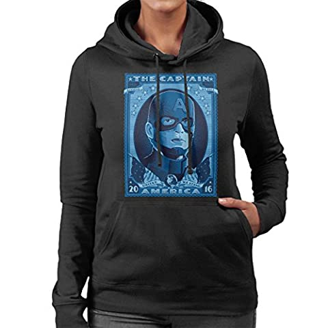 The Captain Of America 2016 Women's Hooded Sweatshirt