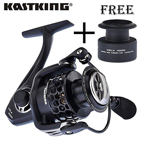 Serie 11, 1000: Carrete de pesca KastKing 2017 serie Mela de alta velocidad 5.2:1 súper ligero con carrete de repuesto de bobina 11 rodamientos de bolas de agua salada carrete giratorio