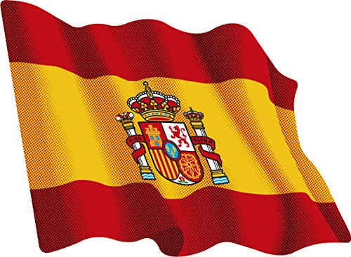 Artimagen Pegatina Bandera Ondeante España 80x60