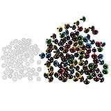 MagiDeal 100-tlg 8-20mm Bunt Sicherheitsaugen Kunststoffaugen Mit Unterlegscheiben - 10mm