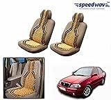 Speedwav Car Acupressure Wooden Bead Seat Set Of 2-Maruti Esteem