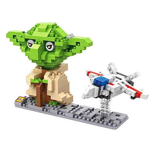 Preisvergleich Produktbild LOZ Star Wars Diamond Nano-Block(mini blocks) 2 pc set - Yoda & Fighter with Box! by Let them Be Little