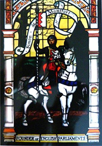 Gebeizt Art-glas-fenster (gebeizt Glas Fenster Kunst-statische Fensterdekoration-Simon de Montfort)