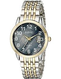 August Steiner Reloj Automático para Hombre con de madreperla, esfera analógica pantalla y pulsera de aleación de dos tonos as8026ttg