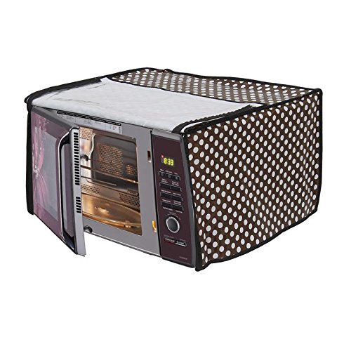 Dream Care Brown Printed Microwave Oven Cover for Samsung 20 L Grill Microwave Oven GW732KD-B/XTL