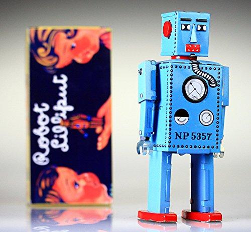 Mecnico-astronauta-Sparky-Robby-Robot-Tin-Toy-Wind-Up-yoshiya-Robot