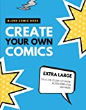 Blank Comic Book: Create Your Own Comics: Extra Large, 220 Pages, Action Templates: Volume 8