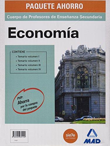 Economía, Paquete Ahorro, Cuerpo de Profesores de Enseñanza Secundaria