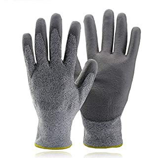 Liul Gardening Gloves Thorn-proof Garden Breathable Wear-resistant Work Labor Protective Gloves,Grey-M